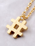 Hashtag Necklace Anarchy Street Gold - Details