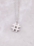 Hashtag Necklace Anarchy Street Silver