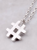 Hashtag Necklace Anarchy Street Silver - Details