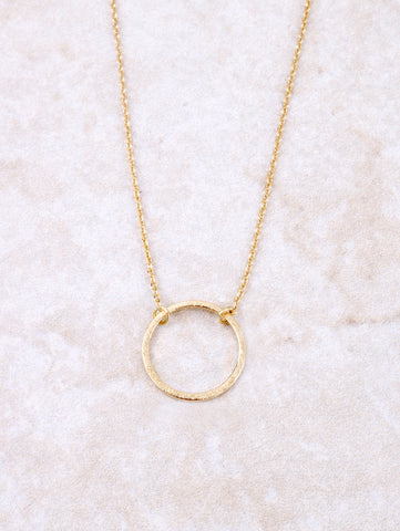 Infinite Circle Necklace Anarchy Street Gold