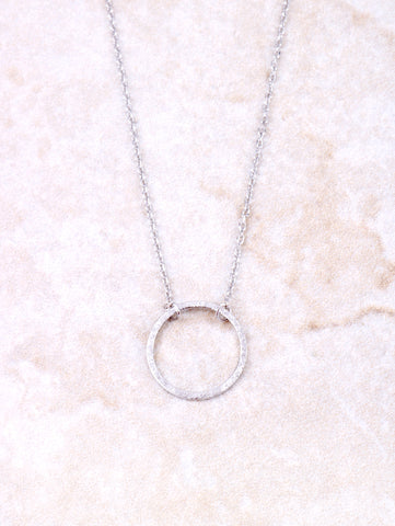 Infinite Circle Necklace Anarchy Street Silver