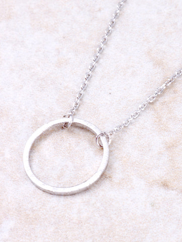 Infinite Circle Necklace Anarchy Street Silver - Details