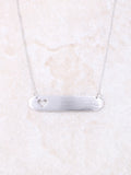 Custom Engraved Necklace w/ Heart Shape Cut-out