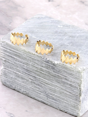 Teeth Midi Ring Set Anarchy Street Gold