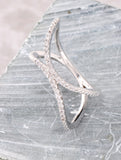 Pave Bent Ring Anarchy Street Silver - Details
