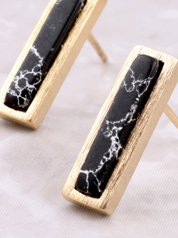Marble Bar Earring Anarchy Street Black - Details