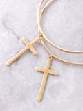 Cross Large Hoop Earrings Anarchy Street Gold - Details
