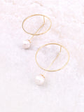 Circle Pearl Earrings Anarchy Street Gold