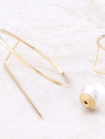 Circle Pearl Earrings Anarchy Street Gold - Details