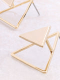 Three Corners Earring Anarchy Street Gold - Details
