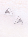 Three Corners Earring Anarchy Street Silver