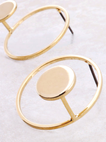 Round And Round Earring Anarchy Street Gold - Details