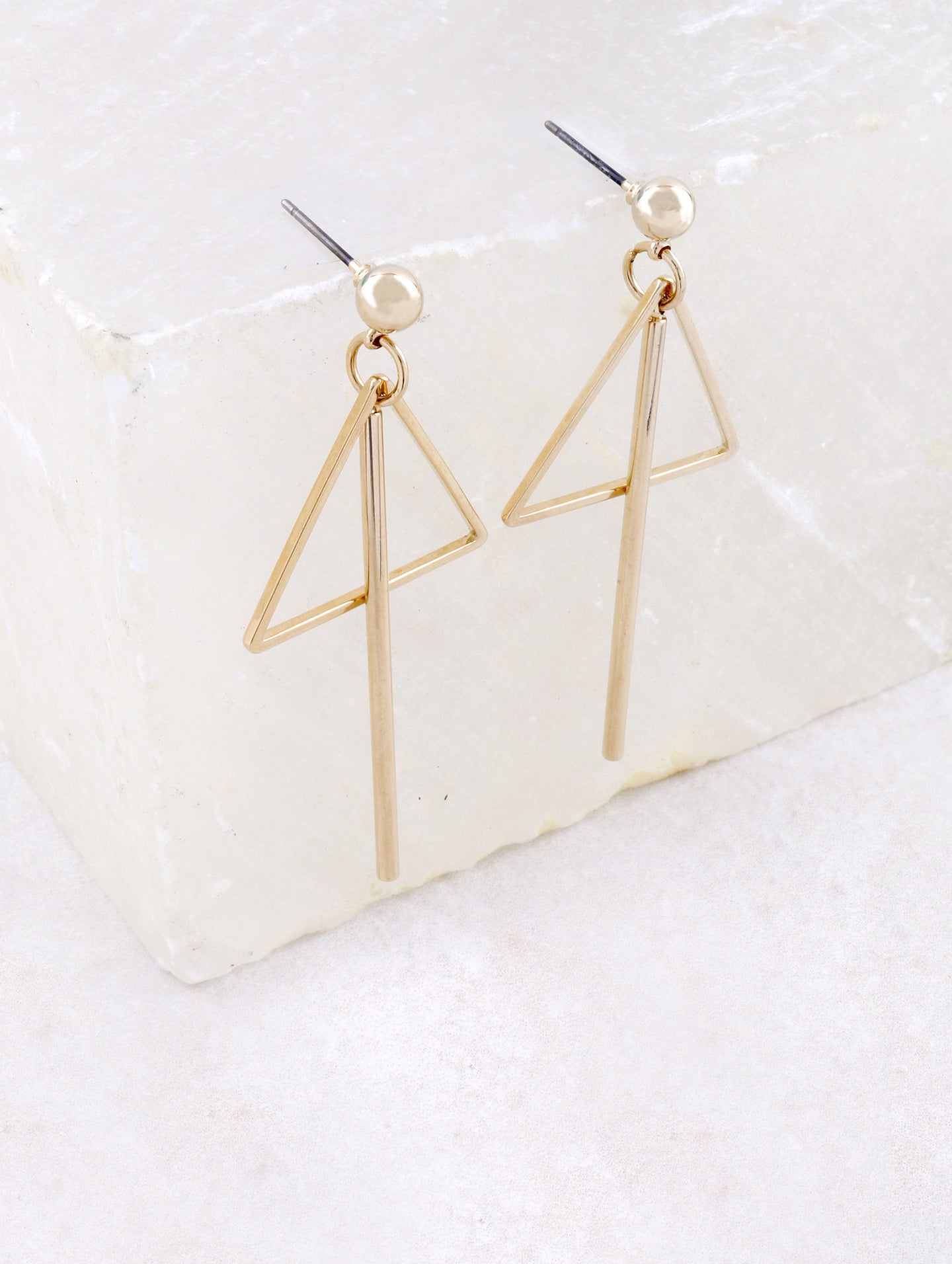 Triangle Bar Earring Anarchy Street Gold
