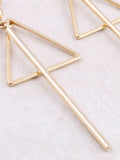 Triangle Bar Earring Anarchy Street Gold - Details