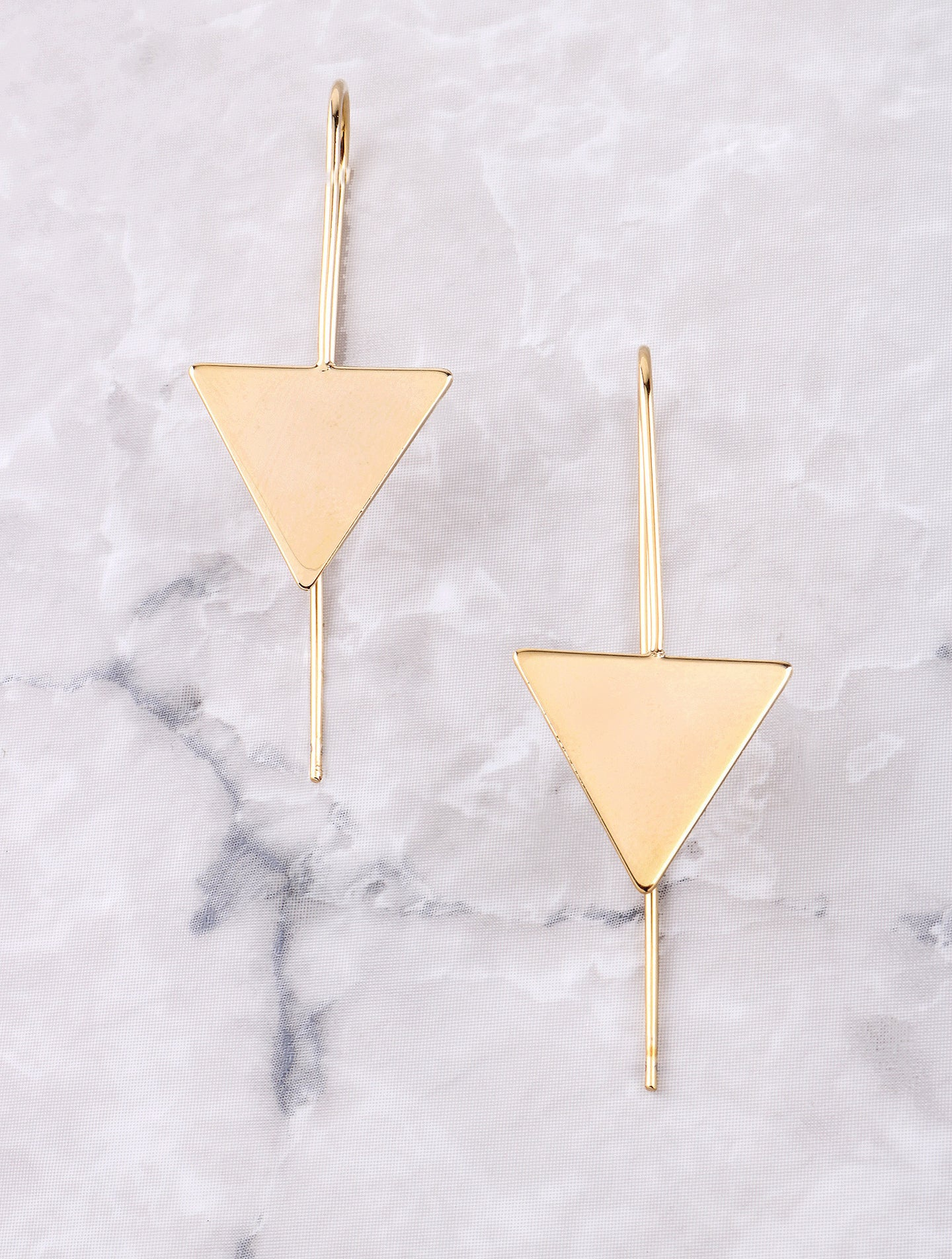 Hanging Triangle Earrings Anarchy Street Gold