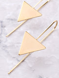 Hanging Triangle Earrings Anarchy Street Gold - Details