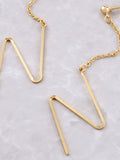 Zig Zag Dangle Earring Anarchy Street Gold - Details