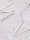 Zig Zag Dangle Earring Anarchy Street Silver - Details