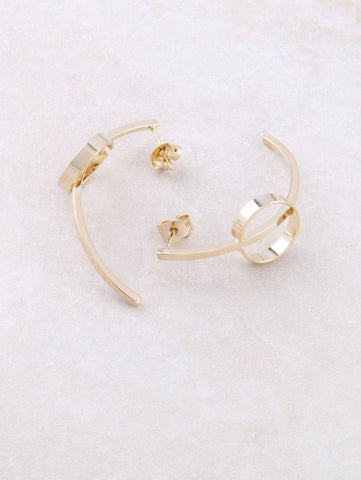 Curved Circle Earring Anarchy Street Gold