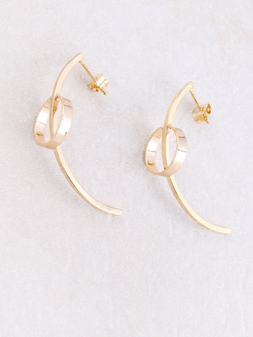 Curved Circle Earring Anarchy Street Gold - Details