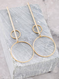 Double Radius Bar Earring Anarchy Street Gold