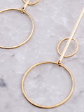 Double Radius Bar Earring Anarchy Street Gold - Details