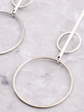 Double Radius Bar Earring Anarchy Street Silver - Details