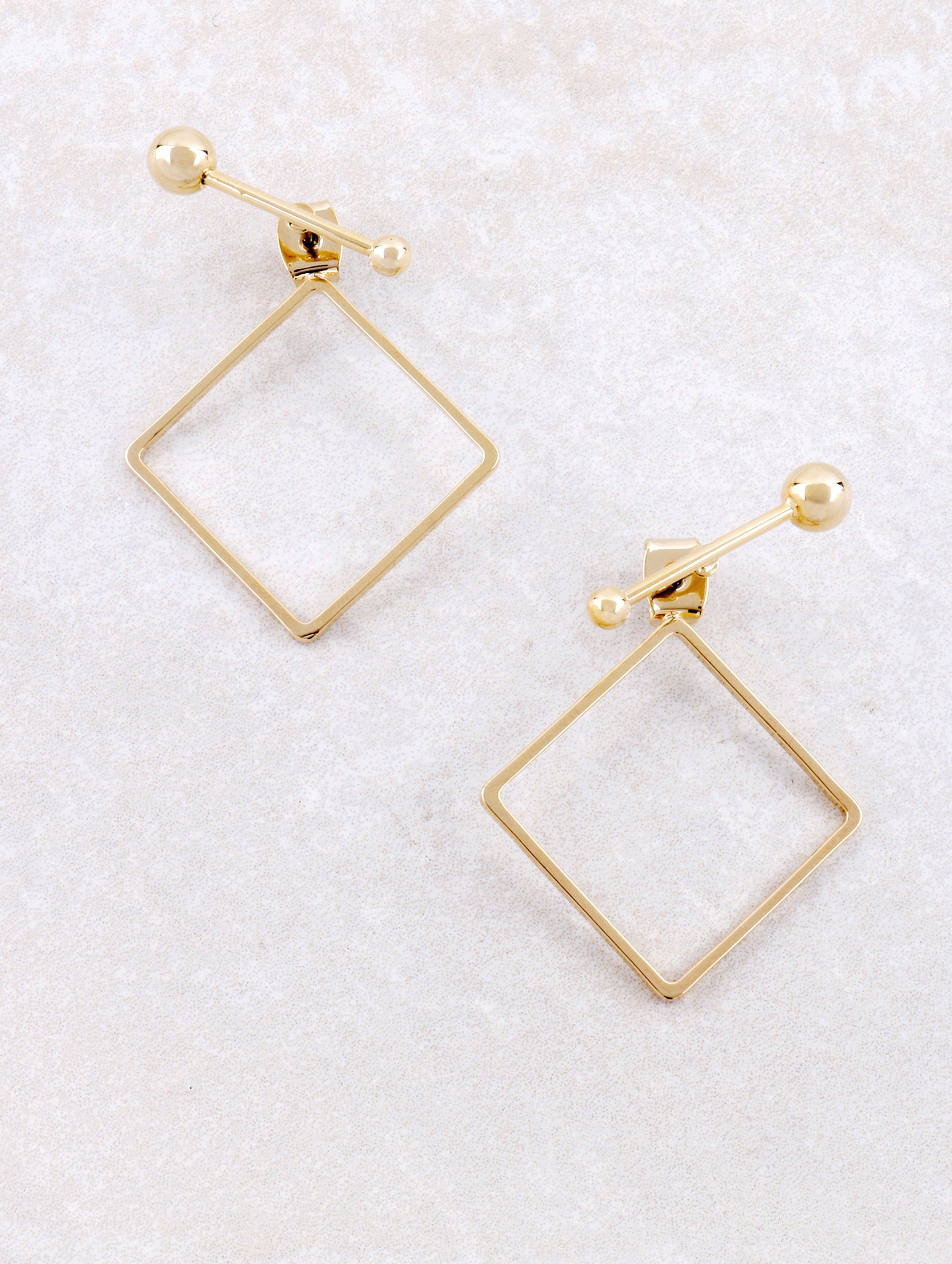 Diamond Shaped Earring Anarchy Street Gold