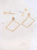 Diamond Shaped Earring Anarchy Street Gold - Details