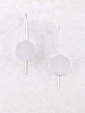 Hanging Disc Earrings Anarchy Street Silver - Details
