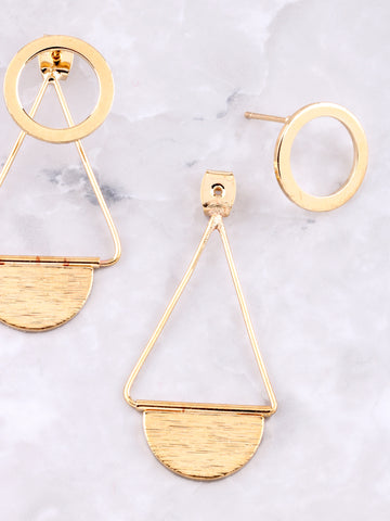 Infinite Double Sided Earring Anarchy Street Gold - Details