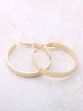 Flat Out Hoops Earrings Anarchy Street Gold