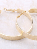 Flat Out Hoops Earrings Anarchy Street Gold - Details