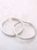 Flat Out Hoops Earrings Anarchy Street Silver
