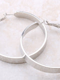 Flat Out Hoops Earrings Anarchy Street Silver - Details