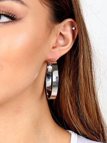 Flat Out Hoop Earrings