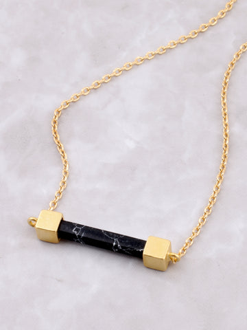 Marble Bar Necklace Anarchy Street Black