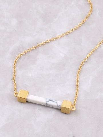 Marble Bar Necklace Anarchy Street White