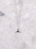 Pave Initial Letter Necklace Anarchy Street Silver- A