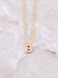 Pave Initial Letter Necklace Anarchy Street Gold- B