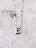 Pave Initial Letter Necklace Anarchy Street Silver- B