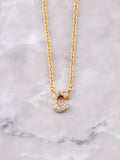 Pave Initial Letter Necklace Anarchy Street Gold- C