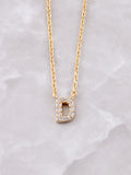 Pave Initial Letter Necklace Anarchy Street Gold- D