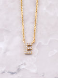 Pave Initial Letter Necklace Anarchy Street Gold- E