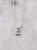 Pave Initial Letter Necklace Anarchy Street Silver- E