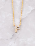 Pave Initial Letter Necklace Anarchy Street Gold- F