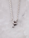 Pave Initial Letter Necklace Anarchy Street Silver- F