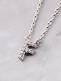 Pave Initial Letter Necklace Anarchy Street Silver - Details- F