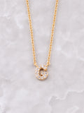 Pave Initial Letter Necklace Anarchy Street Gold- G