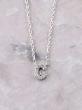 Pave Initial Letter Necklace Anarchy Street Silver- G